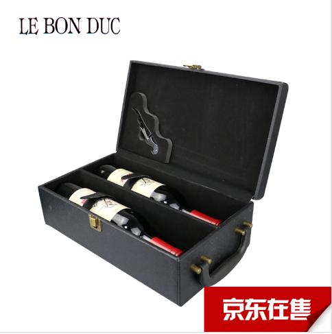 法拉圣堡 马赛里干红葡萄酒13%vol法国进口红酒AOC级干红葡萄酒750ml*2 双支礼盒装